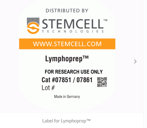 Label for Lymphoprep™