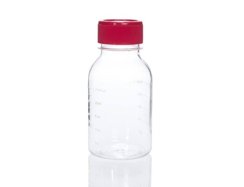 Polystyrene Storage Bottle, 250 mL