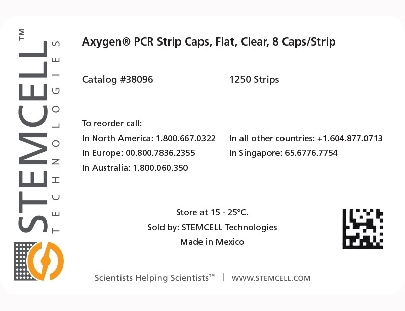 Label for Axygen® PCR Strip Caps