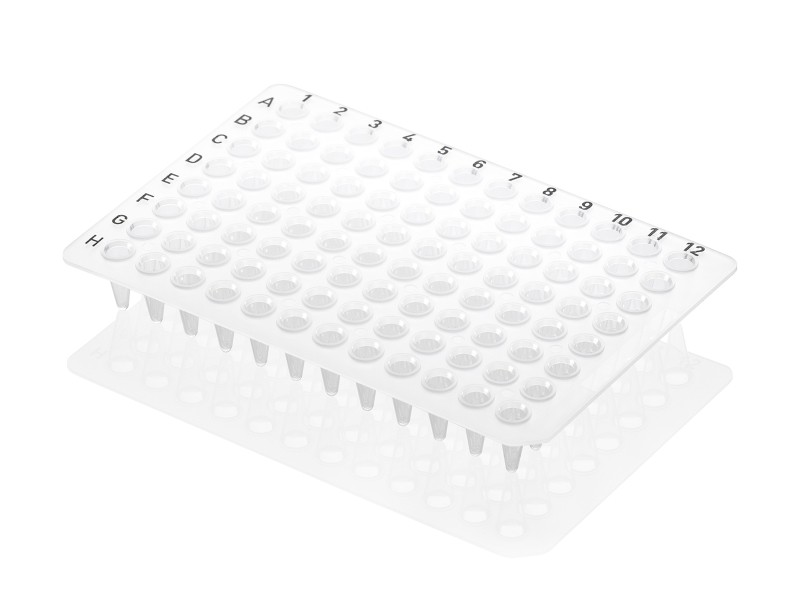 Axygen® 96-Well Flat Top PCR Microplate, Low Profile, No Skirt