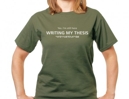 Writing my thesis T-shirt