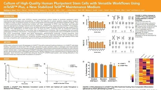 Culture of High-Quality Human Pluripotent Stem Cells with Versatile Workflows Using mTeSR™ Plus