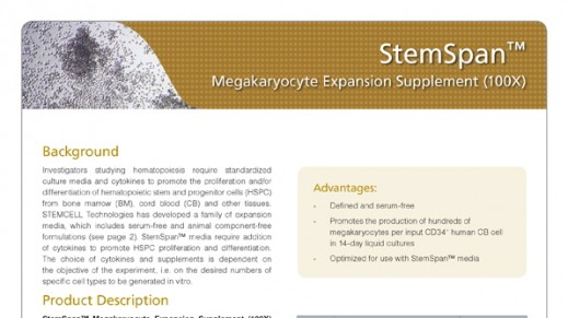 StemSpan™ Megakaryocyte Expansion Supplement