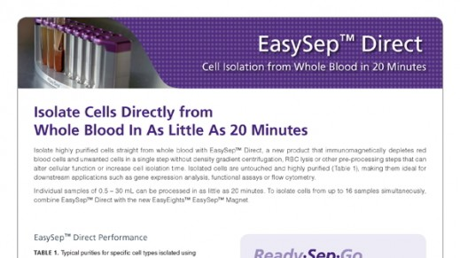 EasySep™ Direct: Cell Isolation from Whole Blood in 20 Minutes