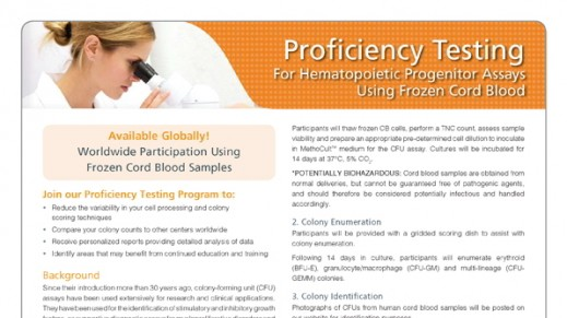 Registration Form - Frozen Cord Blood Proficiency Testing Program (For Countries Serviced by a Distributor)