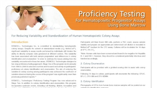 Registration Form - Bone Marrow Proficiency Testing Program (For Countries Serviced by a Distributor)