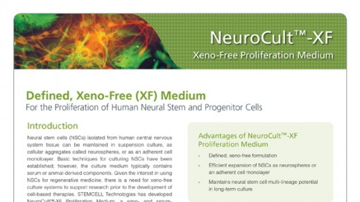 NeuroCult™-XF: Xeno-Free Culture Medium for the Proliferation of Human Neural Stem Cells