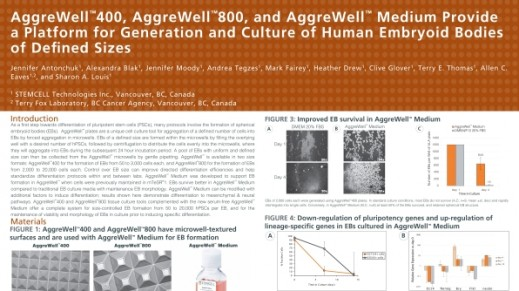 Aggrewell™ 400, Aggrewell™ 800, and Aggrewell™ Medium Provide a Platform for Generation and Culture of Human Embryoid Bodies of Defined Sizes