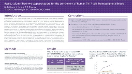Column Free Enrichment of Human Th17 Cells