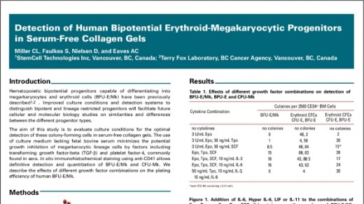 Detection of Human Bipotential Erythroid-Megakaryocytic Progenitors in Serum-Free Collagen Gels