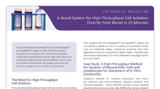 A Novel System for High-Throughput Cell Isolation Directly from Blood in 25 Minutes