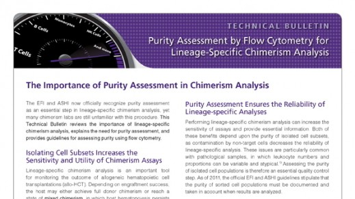 Purity Assessment by Flow Cytometry for Lineage-Specific Chimerism Analysis