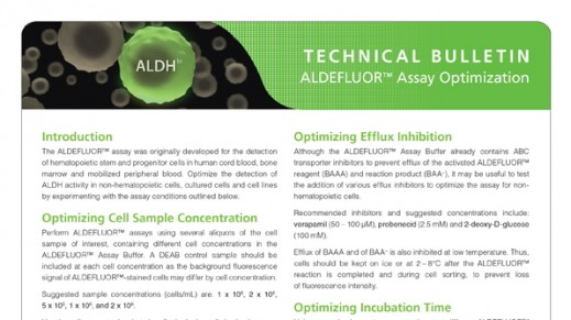 ALDEFLUOR™ Assay Optimization