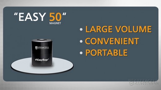 The Easy 50 EasySep™ Magnet: Portable Large-Volume Cell Separation In 25 Minutes