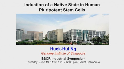 ISSCR 2014 Innovation Showcase - Induction of a Native State in Human Pluripotent Stem Cells