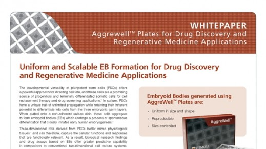 Uniform and Scalable EB Formation for Drug Discovery and Regenerative Medicine Applications