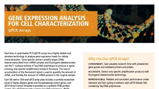 qPCR Arrays for Cell Characterization