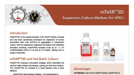mTeSR™3D Suspension Culture Medium for hPSCs