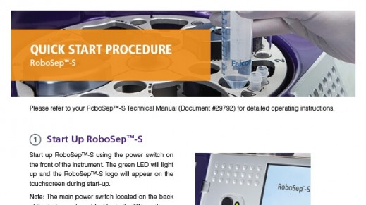 RoboSep™-S Quick Start Procedure