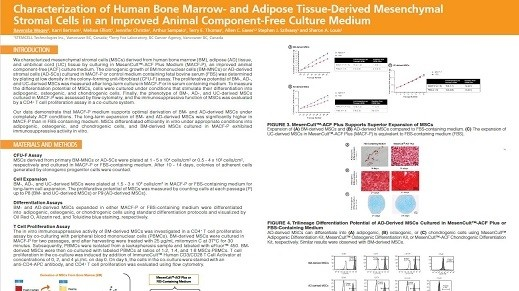 Characterization of Human Bone Marrow- and Adipose Tissue-Derived Mesenchymal Stromal Cells in an Improved Animal Component-Free Culture Medium