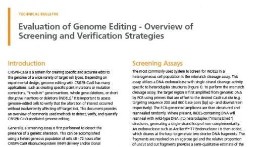 Evaluation of Genome Editing
