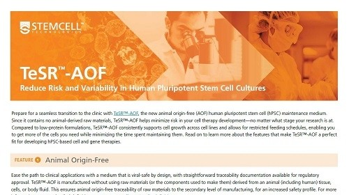 TeSR™ -AOF Product Overview Flyer