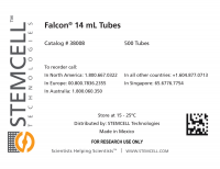 Label for Falcon® Round-Bottom Tubes, 14 mL