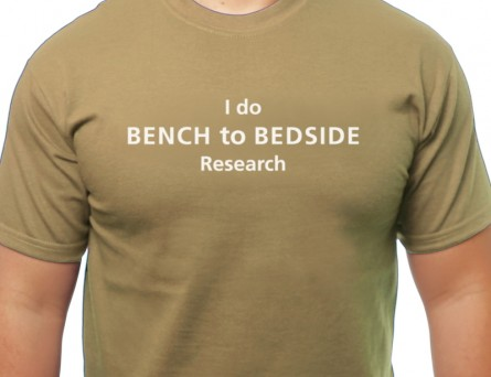 Bench to bedside T-shirt