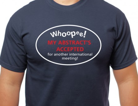 My abstract's accepted T-shirt