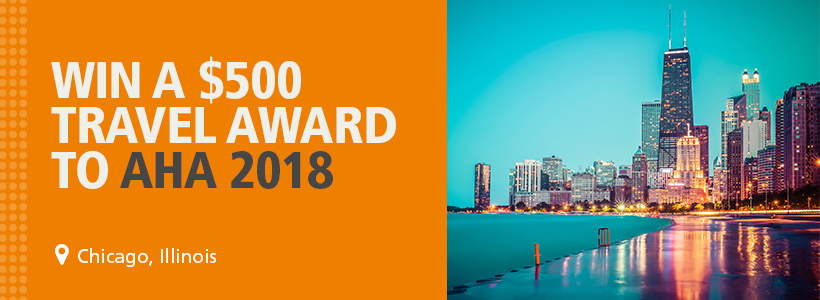 Enter to win a $500 travel award to AHA 2018.
