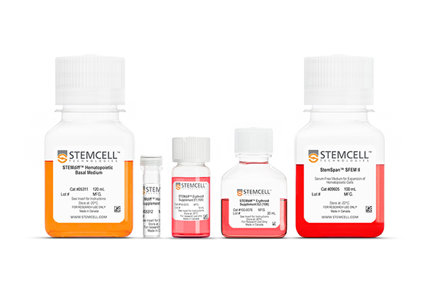 Image of the STEMdiff Erythroid Kit, used to generate erythroblasts from PSCs with ease.