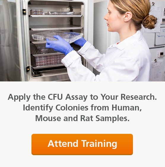 Apply the CFU Assay to Your Research. Learn to identify colonies from human, mouse, and rat samples. Attend training.