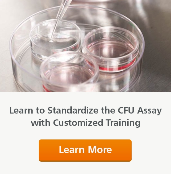 Standardize the CFU Assay with Hands-On Training. Learn More.