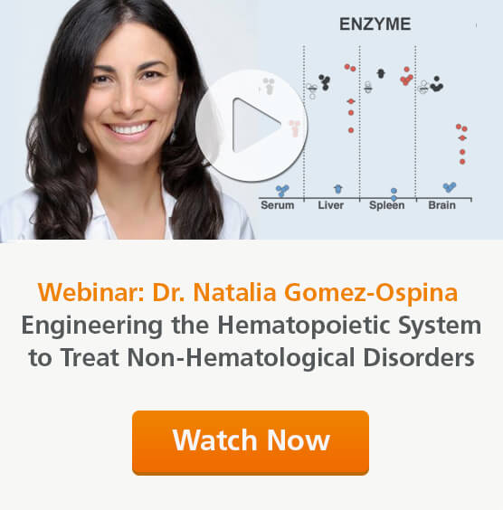 Dr. Natalia Gomez-Ospina discusses her work investigating genome editing HSCs as therapy for non-hematological diseases.
