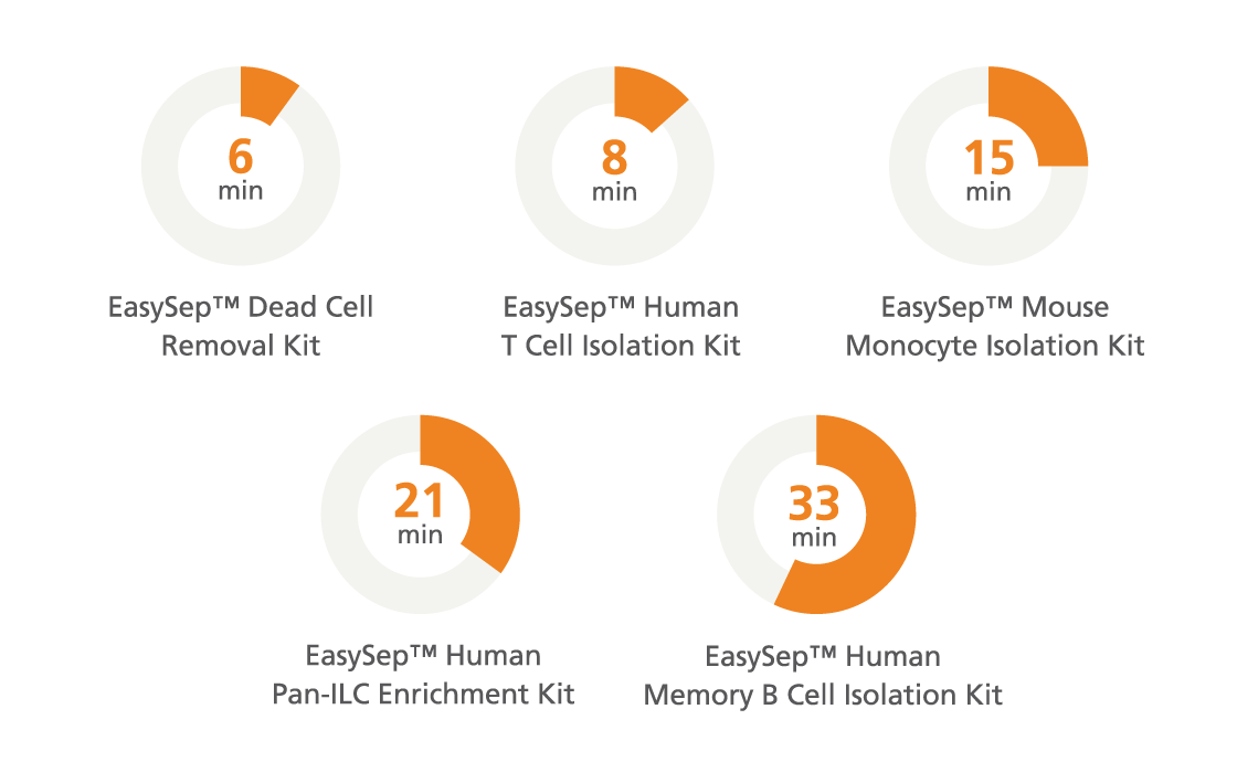 EasySep™ Cell Separation Protocol Times